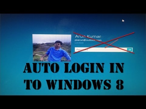 Auto Log In to Windows 8 OS (Remove Entering Password)