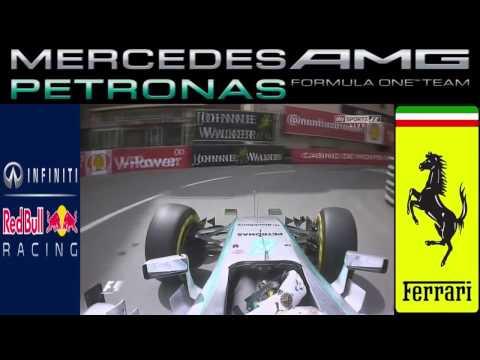 F1 2015 Monaco GP Lewis Hamilton Practice Start on Grid Free Practice 1