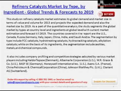 Global Refinery Catalysts Industry Forecast 2019 by Segmentation, Trends & Market Size