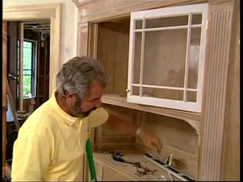 Installing a Chair Rail and Restoring a Corner Cupboard