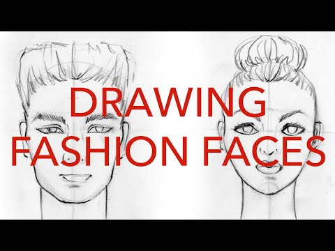 Fashion Faces Tutorial 1: Drawing Front Views: Male & Female