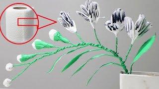 Diy paper crafts tutorials videos by diy paper crafts tutorials how to make toilet tissue paper flowers diy toilet paper flower mightylinksfo