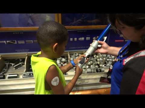 Creating a Light Saber at Disney Star Wars Weekends Hollywood Studios Disney World