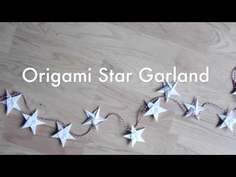 How to make an Origami star garland