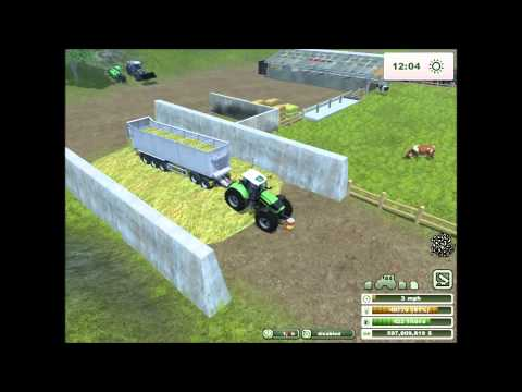Farming simulator 2013  - Getting chaff and making it into silage
