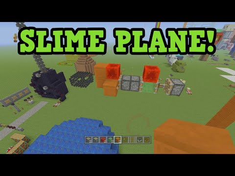 Minecraft Xbox 360 / PS3 PLANE / Missile Tutorial (Slime Block Flying Machine)