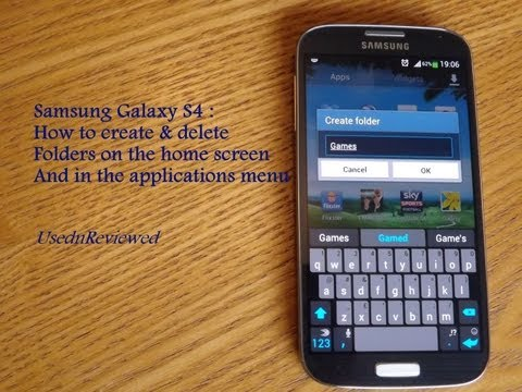 How to create folders on Samsung Galaxy S4 ; home screen and app menu (Folders S4)