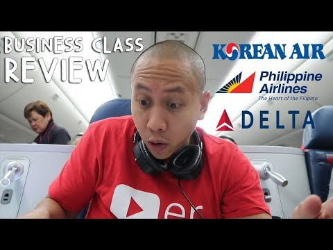 REVIEW: BUSINESS CLASS KOREAN AIR vs PHILIPPINE AIRLINES vs DELTA | Vlog #273