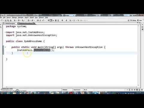 How to get Ip Address in Java using java program