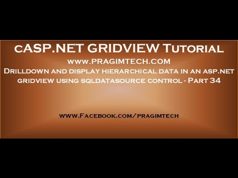 Drilldown and display hierarchical data in an asp.net gridview using sqldatasource control - Part 34