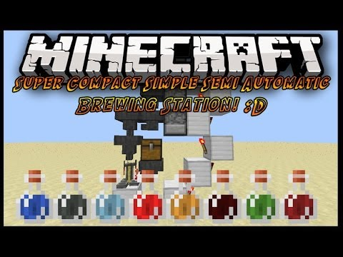 Minecraft 1.7.9: Super Compact How To Make An Auto Brewer In Minecraft 1.7.4