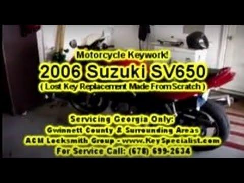 2006 Suzuki SV650 - Motorcycle Lost Key replacement Made! Locksmith Duluth, GA