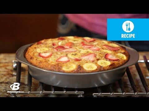 Healthy Recipes: Strawberry Banana Oatmeal Protein Bake