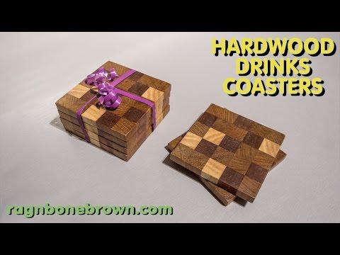 Making Hardwood End Grain Drinks Coasters