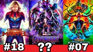Download Marvel ke sare 22 movie ki Ranking | Best marvel movies of all time from iron man to endgame Video