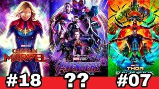 Marvel ke sare 22 movie ki Ranking | Best marvel movies of all time from iron man to endgame