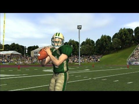 NCAA Football 2004 ps2 Gameplay - joe montana 16 rant????