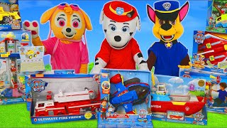 Paw Patrol Pups Toys: Fire Truck, Excavator, Helicopter & Toy Vehicles for Kids