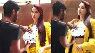 Watch Nora fatehi's Makeup Man T0UCH!NG Her Inappropriately @ O Saki Saki re Promotions