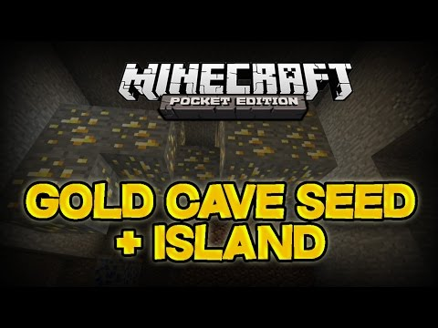 SURVIVAL ISLAND & GOLD CAVE SEED! - Minecraft Pocket Edition 0.10.0 (Best Island Seed)
