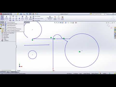 SolidWorks Tutorial In Tamil 3 :  Line And Smart Dimension | Sketch