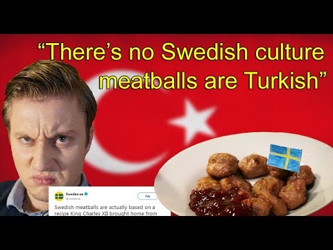 MEATBALL RANT: Sweden spreading FAKE NEWS - Says meatballs are TURKISH