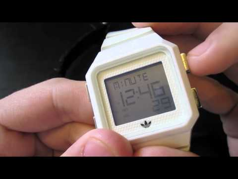 How to work a Adidas Peachtree Watch!