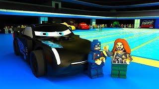 Lightning McQueen Jackson Storm Swimming Competition LEGO CARS Team vs Avengers Animation CARTOON