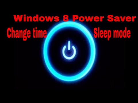 How to change laptop sleep settings windows 8