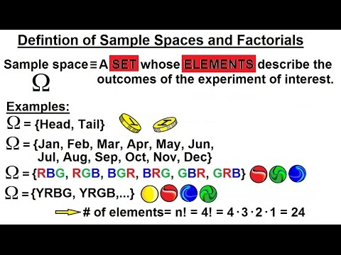 Probability & Statistics (3 of 62) Definition of Sample Spaces & Factorials