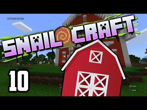 Snailcraft - 10 - Exploring the Nether & Completing the Barn