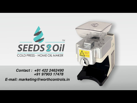 SEEDS2Oil | How to use | COLD - PRESS HOME OIL MAKER |