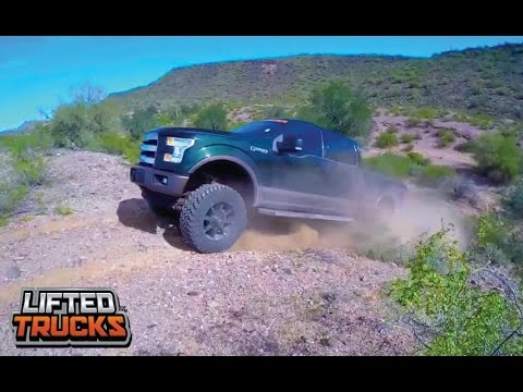 YOU WON'T BELIEVE WHO'S DRIVING! 2015 FORD F-150 SUPER CREW 4X4 LIFTED TRUCK OFF ROADING
