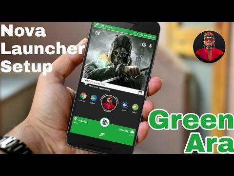 Nova Launcher Setup (Green Ara) Feature Reached Home Screen ✅