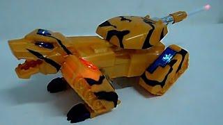 Toy Tank Transformer Tiger. Luminous toys.