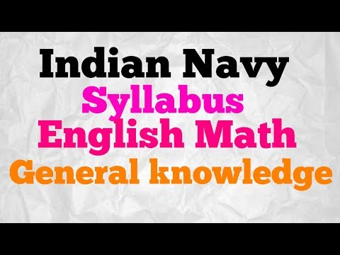 Indian Navy Syllabus for selection 2017