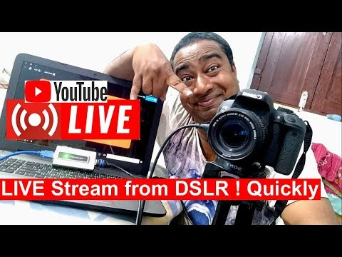 How to Live Stream from Any DSLR Camera on YouTube & Facebook | Setup & Proedure