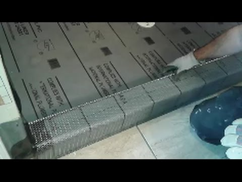 How To Build a Shower Curb  - Creating and Installing A Metal Frame Mesh on Curb