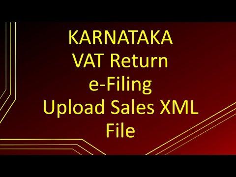 Karnataka Vat Return e filing | Upload Sales XML file to vat.kar.nic.in