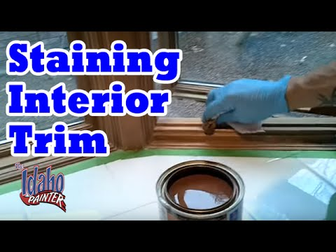 DIY Wood Stains.  Staining & Clear Coating Interior Wood Trim.  How to stain wood windows.