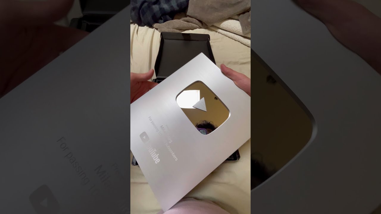 Opening My Silver Play Button (100k) #shorts