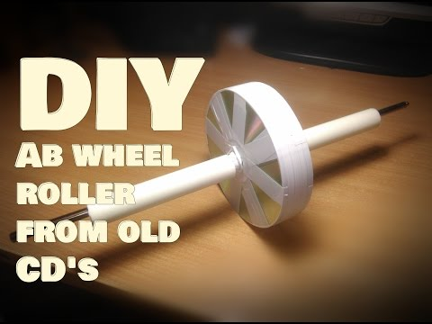 Ab wheel roller from old CD's - DIY