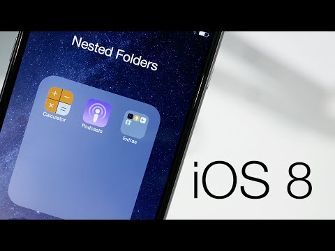 How To Create Nested Folders On iOS 8 (iPhone 6 & Below)