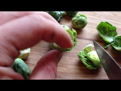 cleaning brussels sprouts