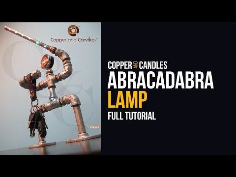 Copper Pipe LED light Tutorial DIY Galvanized Pipe Key holder Lamp