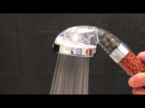 Shower Head with Negative Ions and Minerals