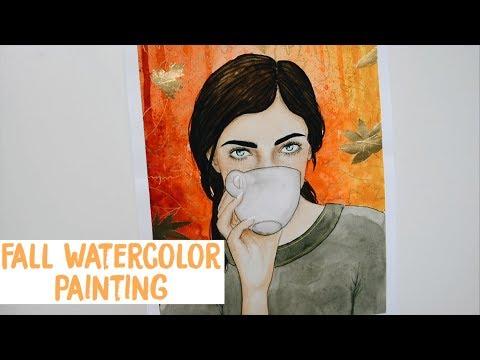 Fall Watercolor Painting