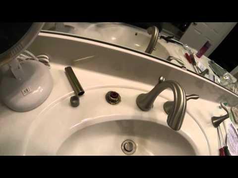 Moen Eva bathroom dual handle faucet fixed
