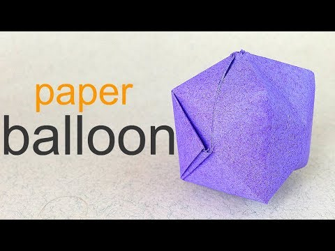 How to make a Paper balloon / water bomb origami for beginners  for children / for  kids