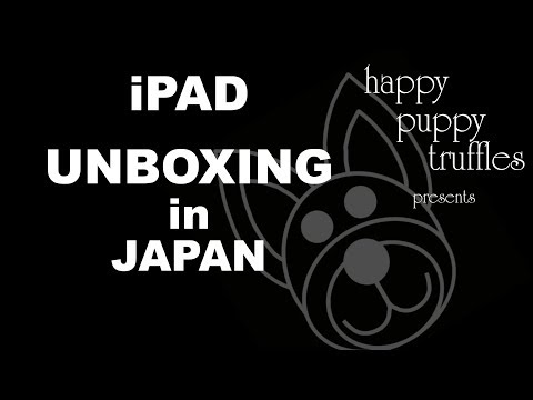 Unboxing an iPad in Japan - Japanese VLOG